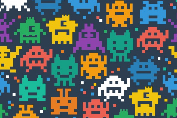 Free Pixel Art Pattern Template
