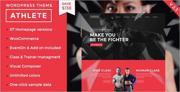 Fullly functional Fitness Website Template