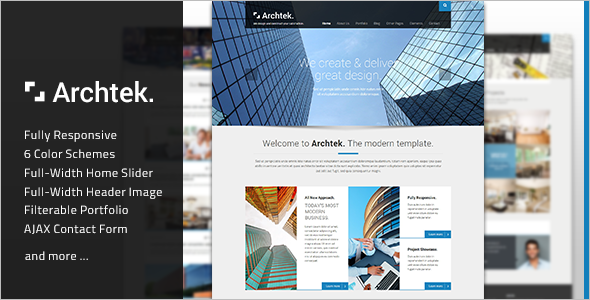 Fully Modern Template Business Website Template