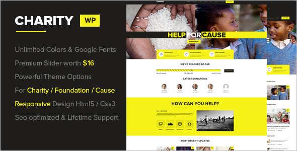 Fundraising Donation WordPress Theme