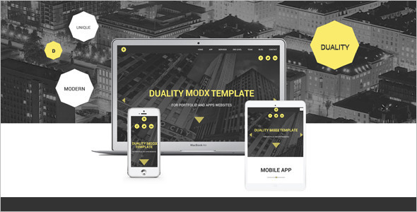 Gallery MODX One Page Template