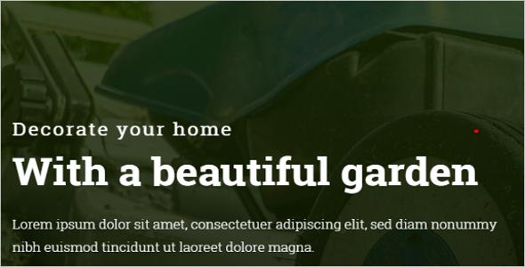 Gardener Web slider Design Template