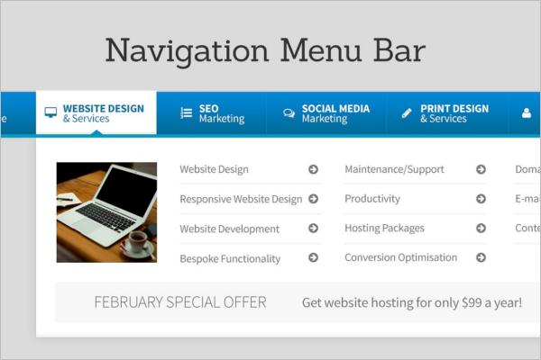 Glossy Navigation Bars Design