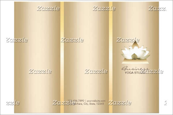 Gold Yoga Brochure Template
