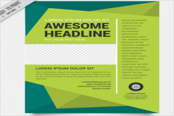 Green Abstract Brochure Template