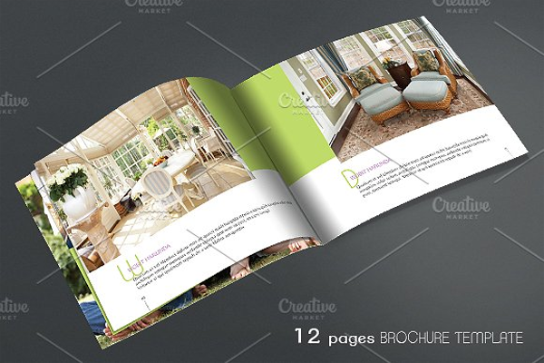 Green Furniture Brochure Design Ideas