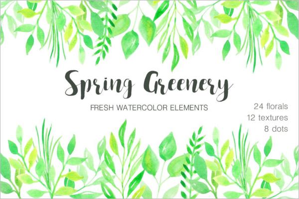 Green Watercolour Textile Resoultion Ideas