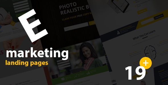 HTML Ebook Landing Page Templates