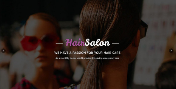 Hair Salon Reactive One Page Template