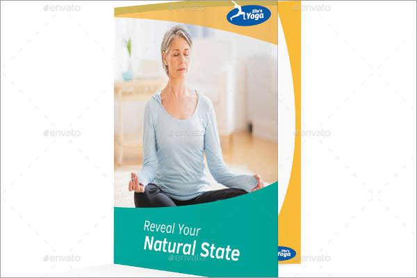 Half Fold Yoga Brochure Template