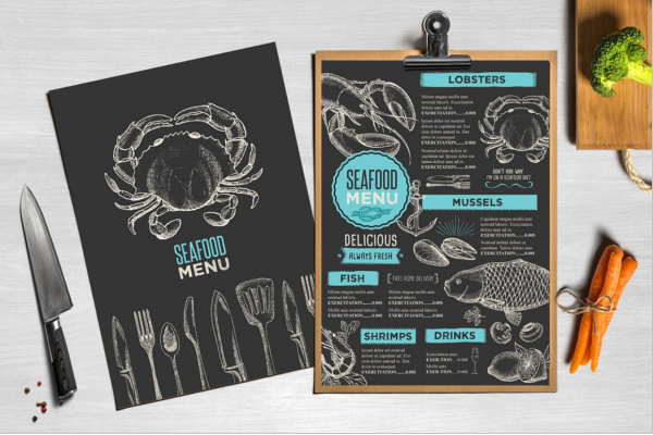 Hand-Drawing Menu Card Flyer