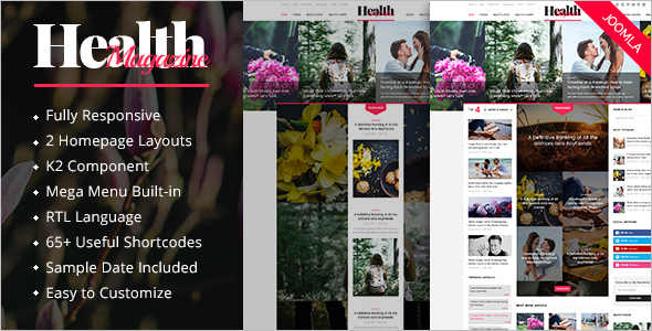 HealthMag News Joomla Template
