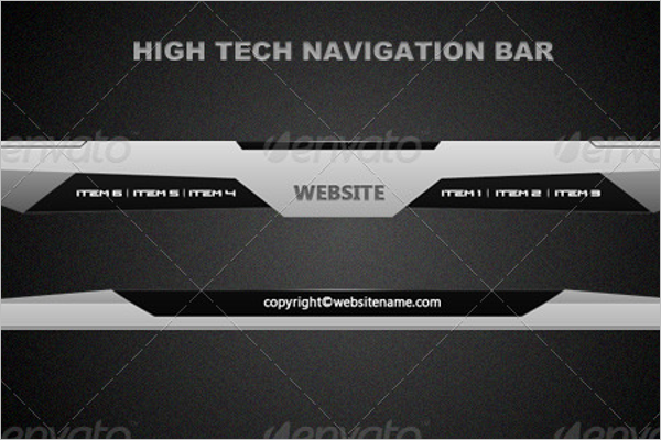 High-Tech Navigation Bar Design