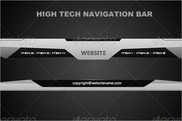 High-Tech Navigation Bar Design