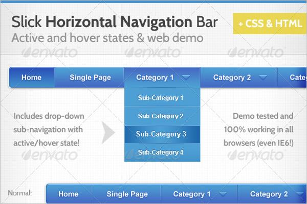 Horizontal Navigation Bar