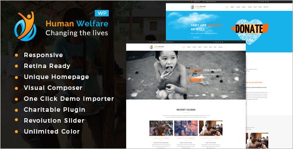 Human Welfare Fundraising WordPress Theme