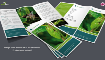 Green Brochure PSD Templates