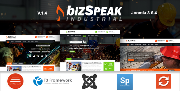 Industrial Joomla Business Template