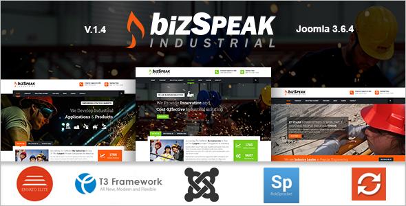 Industrial Joomla Business Template