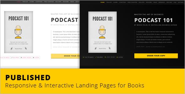 Interactive Ebook Landing Page