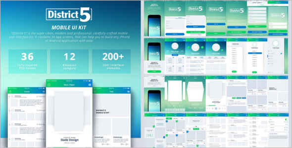 Interface Metro Style Mobile Template