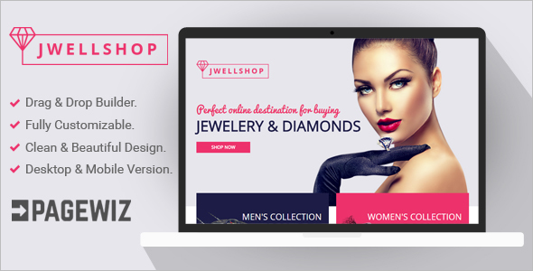 Jewelry Pagewiz LandingPage Template