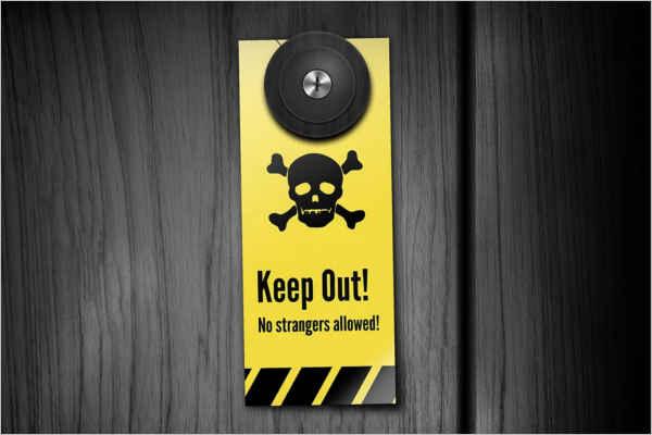Keep Out Door Hanger Template
