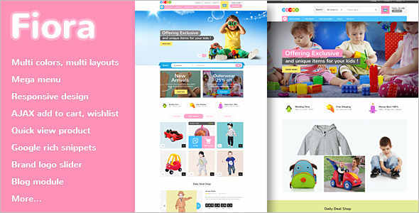 Kids Toy Store Magento Template