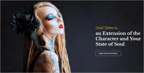 Latest Premium Tattoo Salon Template
