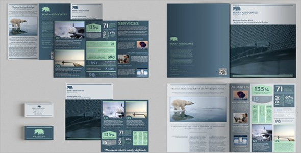 Latest Set of Brochures Graphic Design Template