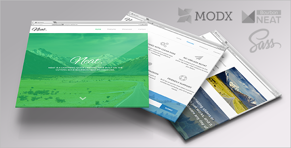 Lightweight MODX One Page template