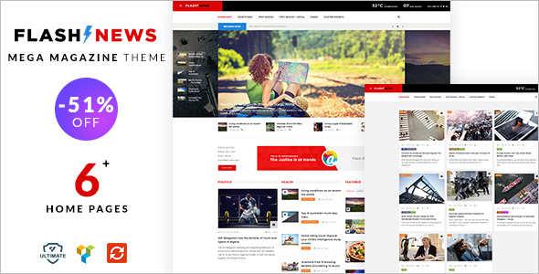 Magazine Editorial WordPress Theme