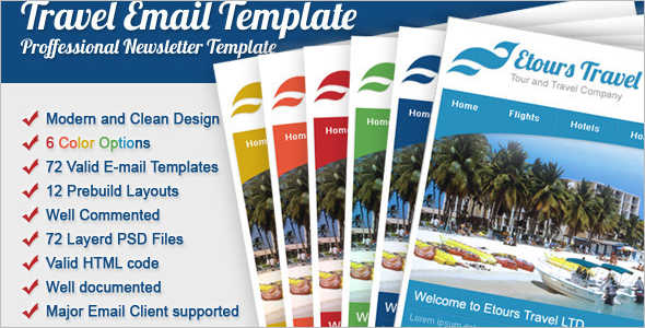 Marketing Travel Email Template