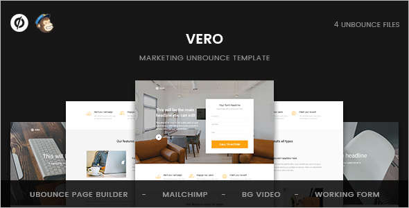 Marketing Unbounce Landing page Template