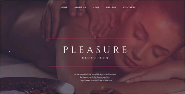 Massage Salon Responsive Website Theme