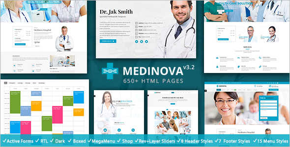 Medical Fitness Website Template