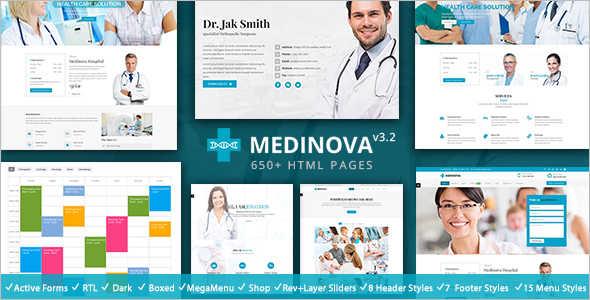 Medical Fitness Website Template