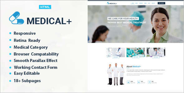 Medical Heslth HTML Bootstrap Template