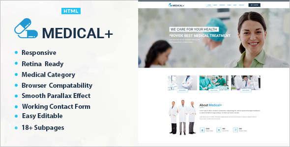 Medical Heslth HTML Bootstrap Template
