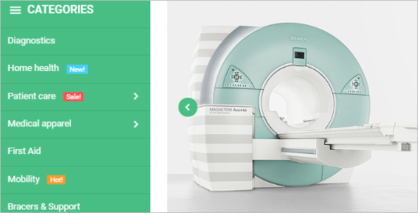 Medical Stuff Store Magento Template