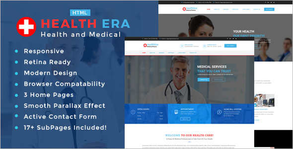 Medical treatment Bootstrap template