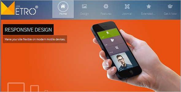 Metro Style Mobile Template Design