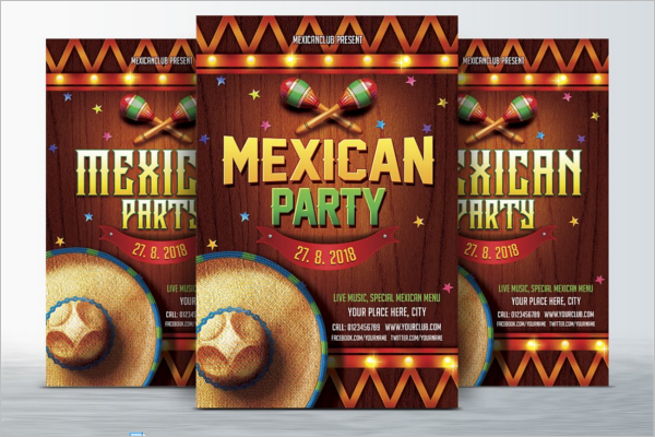 Mexican Style Menu Card Design