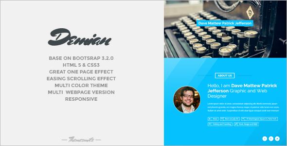 Minimal Bootstrap Portfilio Template