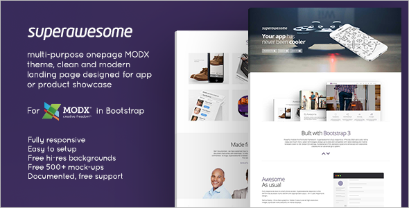 Minimal One Page MODX Template