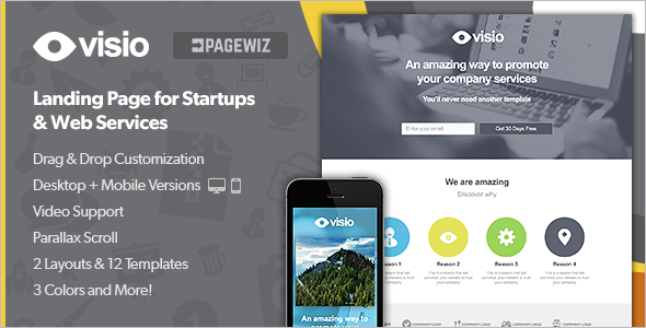 Minimal Pagewiz LandingPage Template