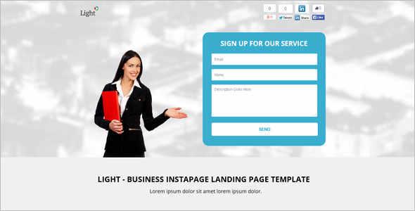 Minimal Signup Landing Page Template