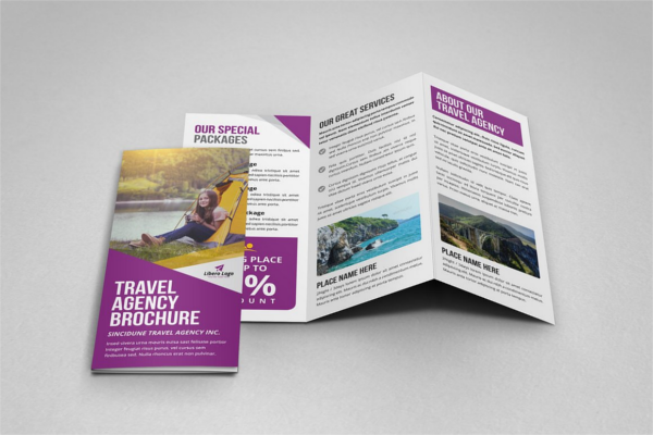 Minimal Travel Brochure Design