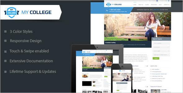 Minimal education Blog Template
