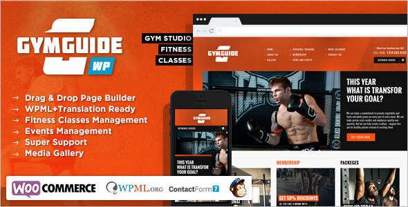 Minimal fitness Website Template